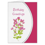 Birthday Humour, Sweet Peas for the Sweetheart Greeting Card