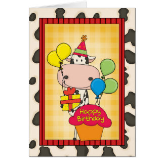 Birthday Ice Cream Flavors Greeting Card