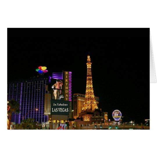 BIRTHDAY In Fabulous Las Vegas Card