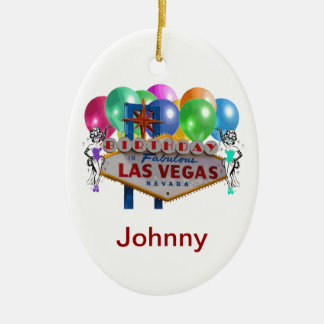 Birthday In Fabulous Las Vegas Ornament