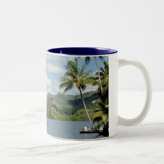 Birthday in Kapa'a Two-Tone Coffee Mug