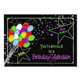 BIRTHDAY INVITATION - NAME/AGE INSERT-VIVID COLORS