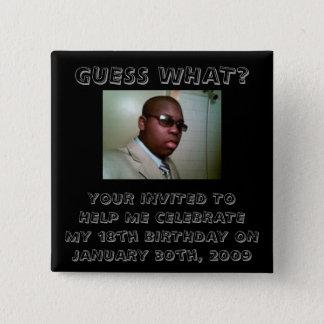Birthday Invitation Pin
