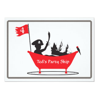 Birthday Invitation - Pirate Boy