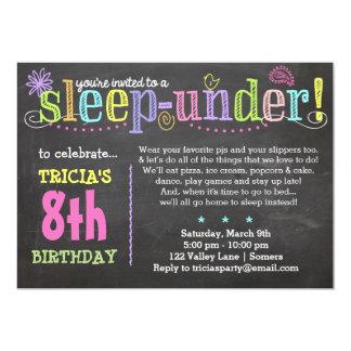 "Birthday Invitation-SleepUNDER Party, Neon 5"" X 7"" Invitation Card"