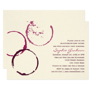 Birthday Invitation | Wine Theme