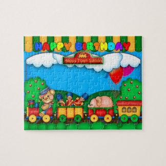 Birthday Jigsaw Puzzle with cute train