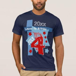 BIRTHDAY July 4th RED WHITE BLUE Custom Year V11BC T-Shirt