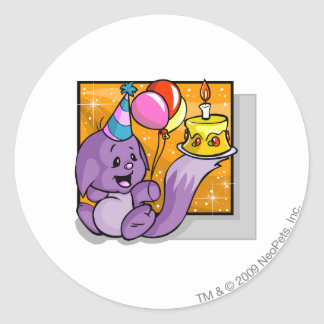 Birthday Kacheek Round Sticker