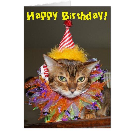 Birthday Kitty Clown Card
