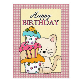 Birthday Kitty Postcard