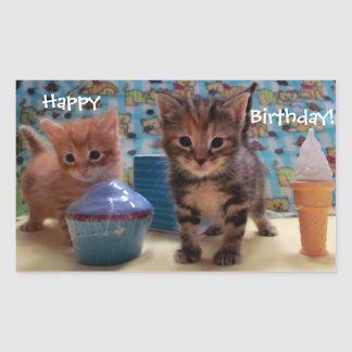 Birthday Kitty Stickers