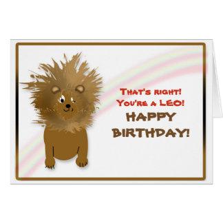 BIRTHDAY - LEO - LION - HUMOR CARD