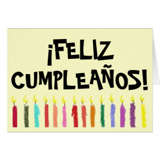 Birthday Light Card - Spanish