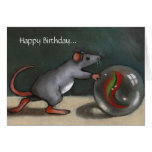 Birthday: Lost Marbles: Funny: Original Art Greeting Card