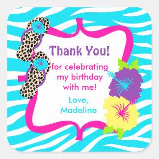 Birthday Luau Party Favor Tag