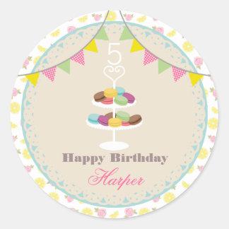 Birthday Macarons Lemons + Roses Stickers