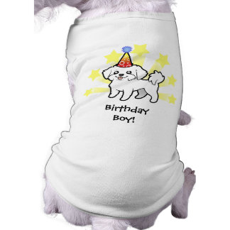 Birthday Maltese (puppy cut) Pet Shirt