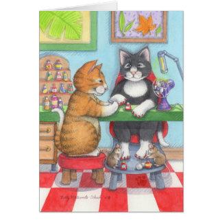 Birthday Manicure Bud & Tony Notecard