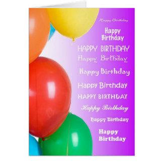 Birthday - Many more Card