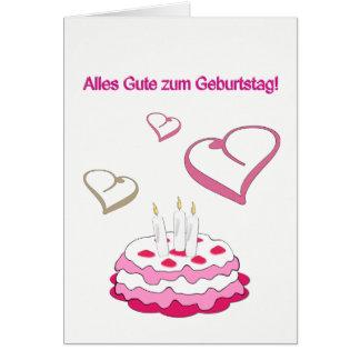 Birthday map card