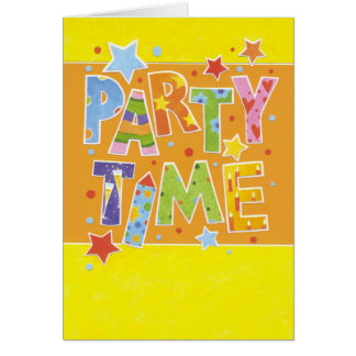 Birthday map party time card