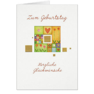 Birthday map with multicolored squares card