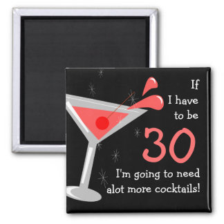 Birthday Martini Cocktail Funny Magnet