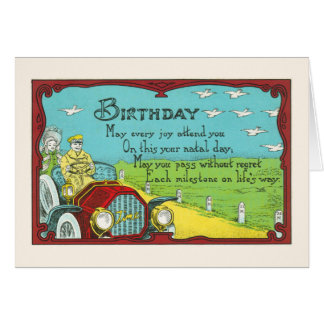 Birthday Milestones-Great for antique car lovers Card