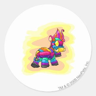 Birthday Moehog Classic Round Sticker