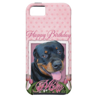 Birthday MOM - Pink Tulips - Rottweiler - Harley iPhone 5 Cover