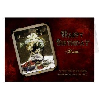 BIRTHDAY - MOM - VINTAGE CARD