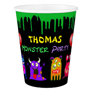 Birthday Monster Party Personalized Paper Cup