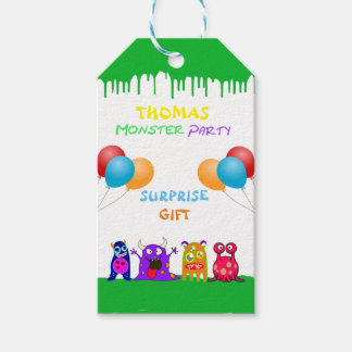 Birthday Monster Party Personalized Party Favors Gift Tags