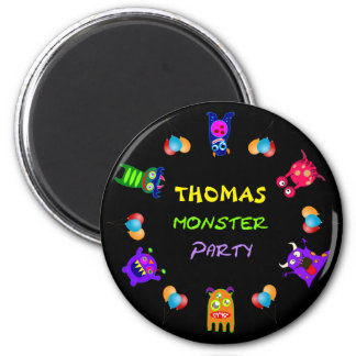 Birthday Monster Party Personalized Party Favors Magnet