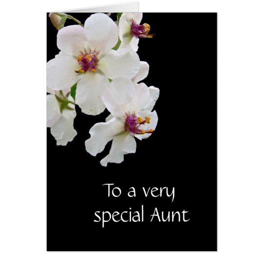 Birthday Moth Mullein Wildflower Card