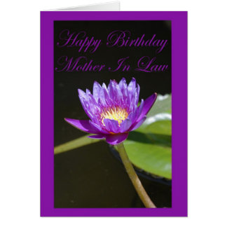 Birthday Mother In Law Card