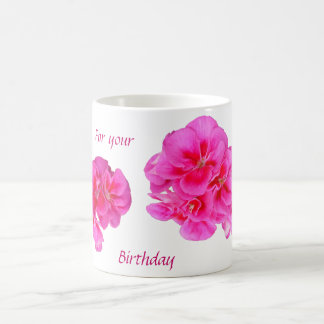 BIRTHDAY MUG, FLORAL COFFEE MUG