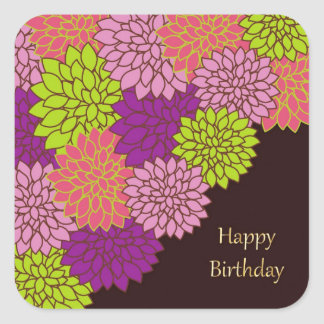 Birthday Mums Square Sticker