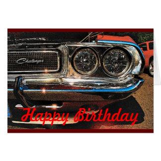 Birthday Muscle Car Card