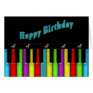 Birthday - Musical - Colorful Keyboard Card