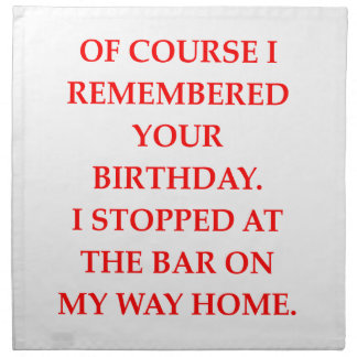 birthday napkin