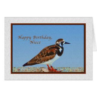 Birthday, Niece, Ruddy Turnstone Bird Card