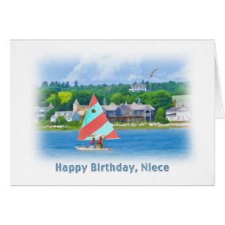 Birthday, Niece, Sailboat on a Lake,  Nautical Card