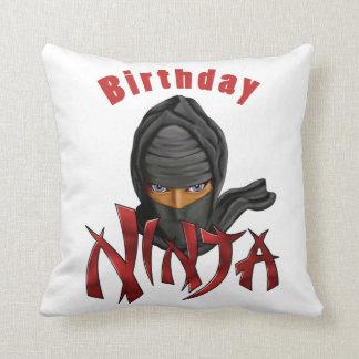 Birthday Ninja Throw Pillow