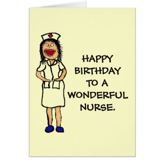 Birthday Nurse Card