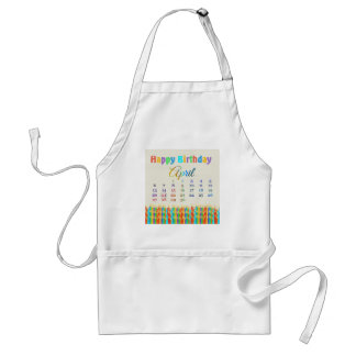 Birthday on April 21st Colorful Birthday Candles Aprons