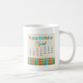 Birthday on April 21st, Colorful Birthday Candles Coffee Mugs
