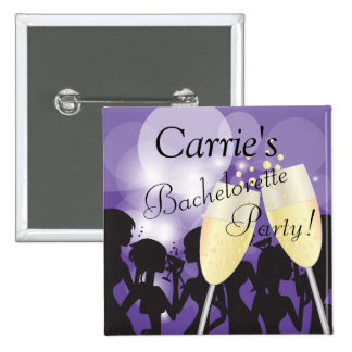 Birthday or Bachelorette Diva Girls Night Out 2 Inch Square Button