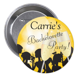 Birthday or Bachelorette Diva Girls Night Out 3 Inch Round Button